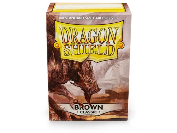 Classic Brown 100ct Dragon Shield Sleeves Standard Size FREE SHIPPING 10% OFF 2 $9.10