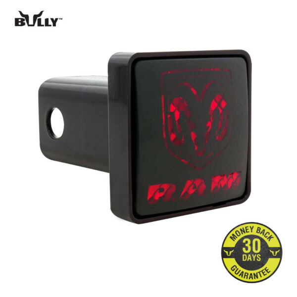 Bully Black 2quot; Car Hitch Cover with Brake Light for Dodge CR 007D $19.99