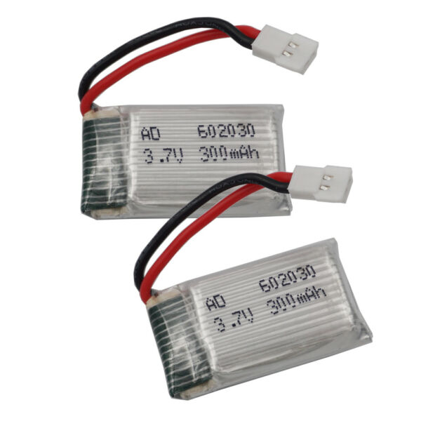 2pc 602030 3.7V 25C 300 mAh Li-po battery For X8tw Syma X5C-1 X5SW part Drone RC