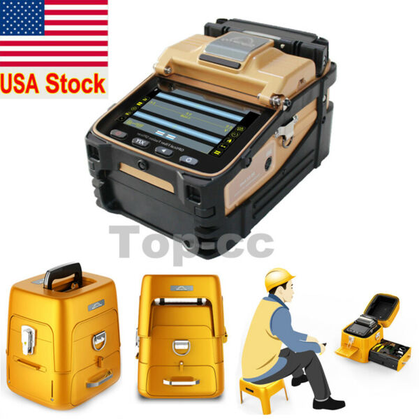 SM&MM Automatic Fiber Optic Splicing machine AI-8C Fusion Splicer Kit  Cleaver