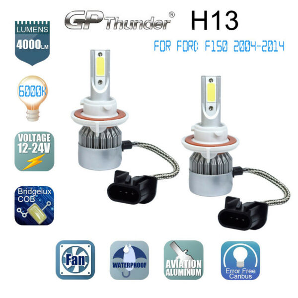 H13 9008 LED Headlight Bulb Conversion Kit for Ford F150 2004 2014 High Low Beam