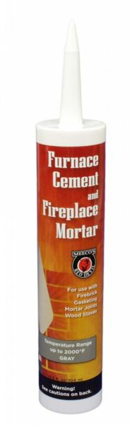 MEECO#x27;S RED DEVIL 121 Furnace Cement and Fireplace Mortar 10.3 oz Gray $11.67