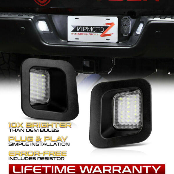 2003-2018 Ram Truck BUILT-IN RESISTOR LED License Plate Light Full Housing PAIR