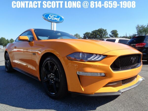 2018 Ford Mustang New 2018 GT Coupe 6 Speed Manual Orange New 2018 Mustang GT Coupe 6 Speed Manual Orange Fury Metallic Black Accent Pack