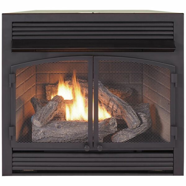 Duluth Forge Dual Fuel Ventless Fireplace Insert - 32000 BTU T-Stat Control