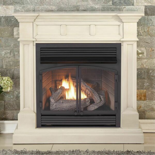 Duluth Forge Dual Fuel Ventless Gas Fireplace 32000 BTU Antique White