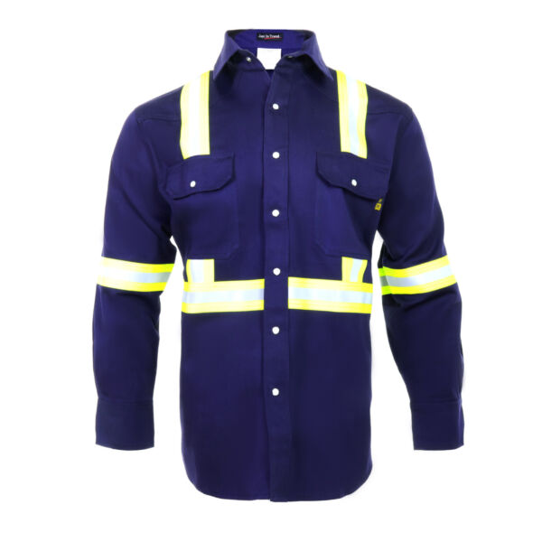 Flame Resistant FR High Visibility Hi Vis 100%C Light Weight Shirt $49.99