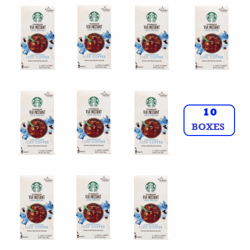 Starbucks VIA Instant Sweetened Iced Coffee (10 boxes of 6 packets)
