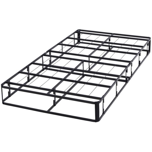 Platform Bed Frame Twin Size Box Spring 7.5 Inch Half-Fold Mattress Foundation