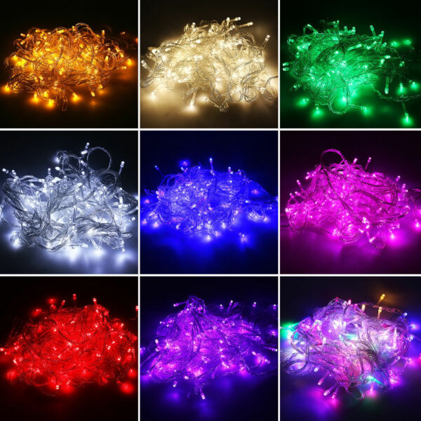 20-400 LED Christmas In/Outdoor Garden Party Wedding String Fairy Lights Decor