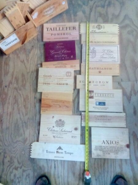 15 Wood wine box crate ends lot 33