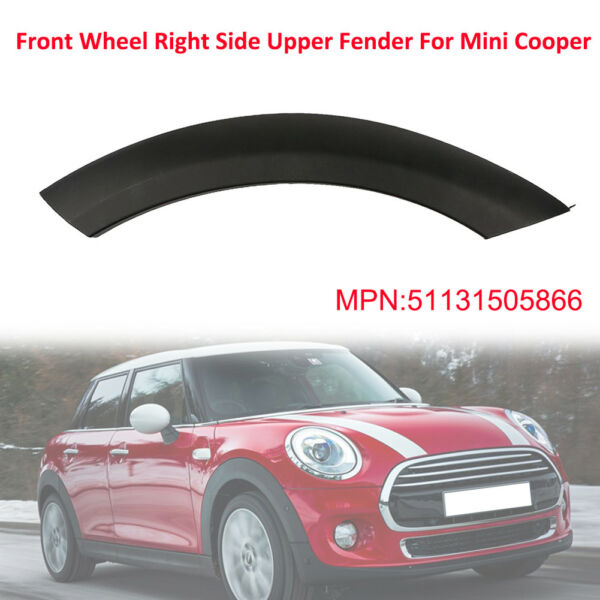 Car Auto Front Wheel Right Side Arch Trim Fender on Hood For 2002-08 MINI Cooper