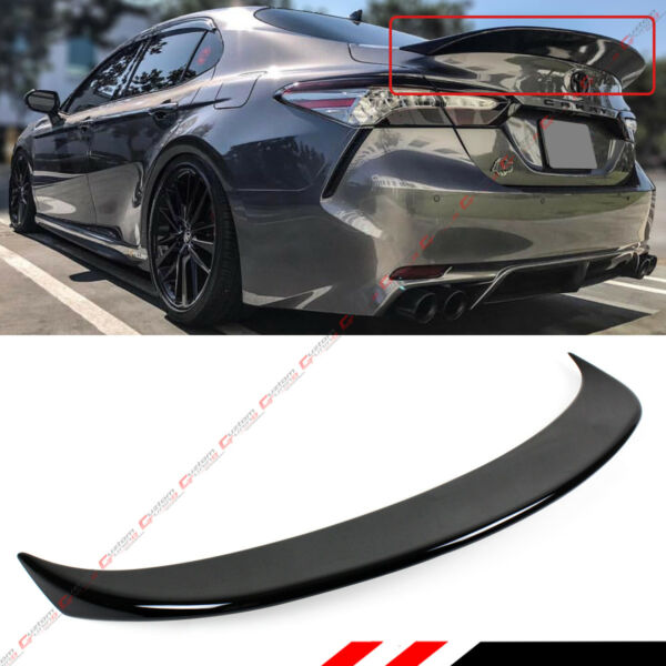 FOR 18 2021 TOYOTA CAMRY PAINTED GLOSSY BLACK DUCKBILL STYLE REAR TRUNK SPOILER $89.99