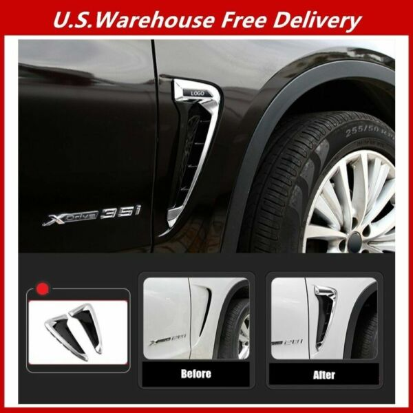 X5M Side Marker Air Flow Fender Wing Vent Trim Cover for BMW X5 F15 F85 2013-18