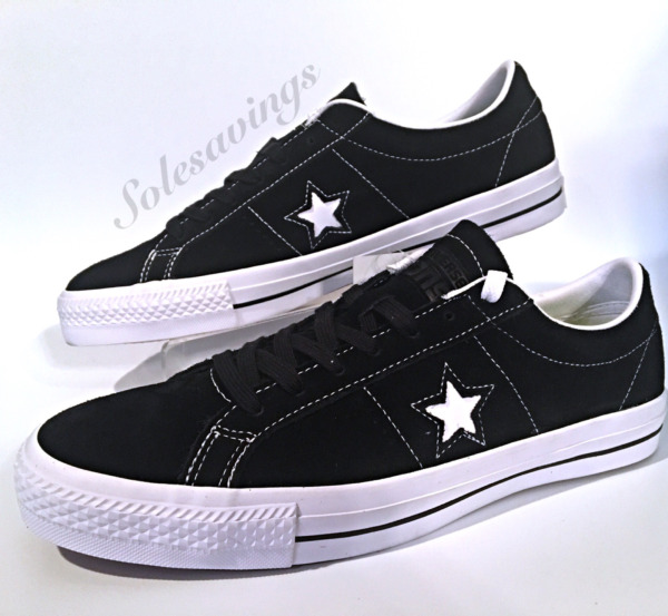 Converse One Star Suede Ox Men's Black Suede White Skate Sneaker (149908C)