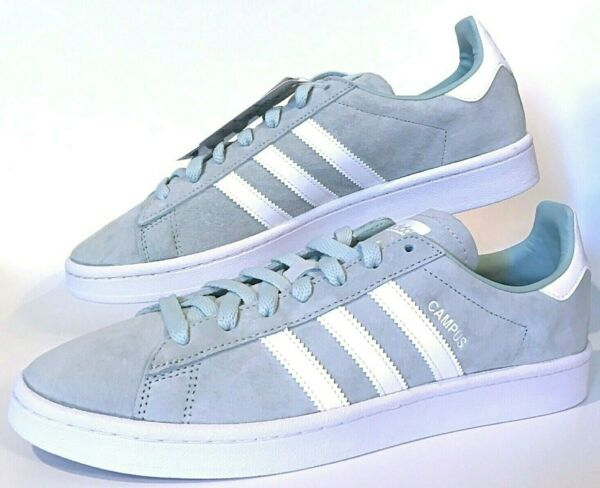 Adidas Campus Original Suede Ash Green White Mens Low Top Casual Shoes (DB0982)