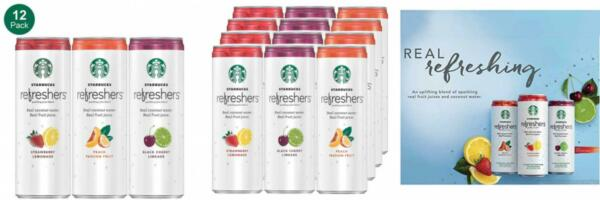 Starbucks Refreshers with Coconut Water 3 Flavor Variety Pack 12 fl oz....