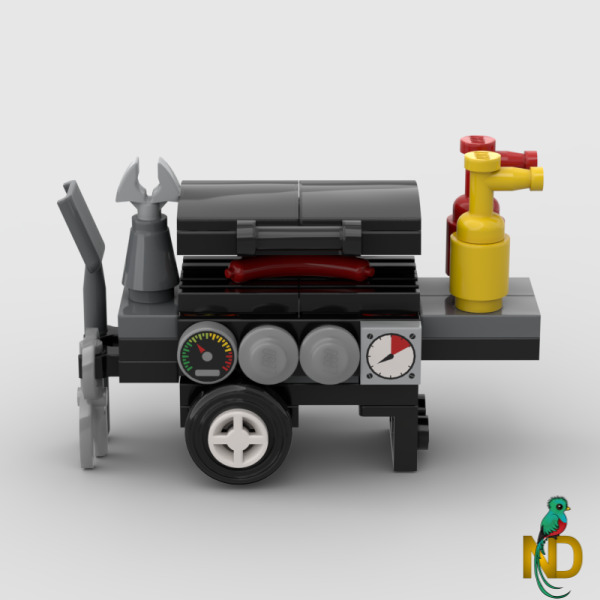 Lego BBQ Barbecue Grill Stand w Food Utensil Minifig Scale Custom Furniture $7.99