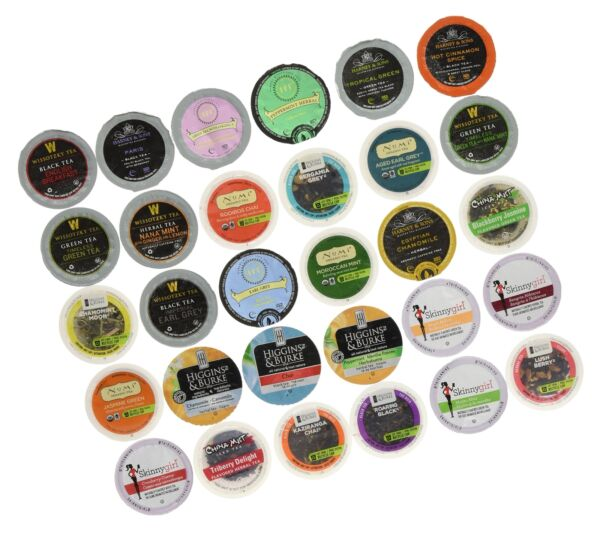 Custom Variety Pack Tea Single Serve Cups for Keurig K Cups Brewer SamplerNe...