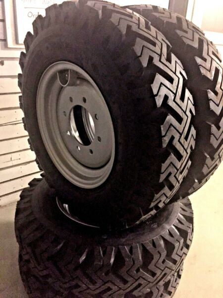 Set of 4 skid-steer snow tires Replaces 10x16.5 & 12x16.5, bolt on ready!