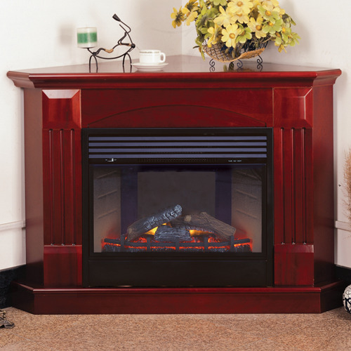 ProCom Deluxe Electric Corner Fireplace With Remote Control - Cherry Finish