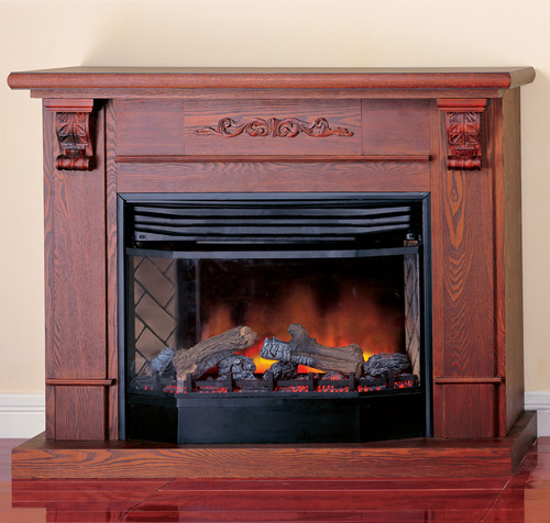 ProCom Deluxe Full Size Electric Fireplace With Remote Control - Dark Oak Finish