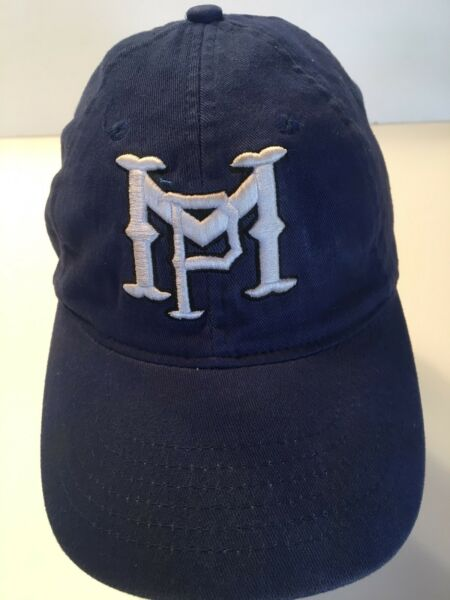 Trucker Hat Child's Baseball Cap Blue with white lettering M P Fitted