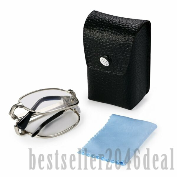 Folding Magnifying Compact Reading Glasses Portable Foldable Readers With Case