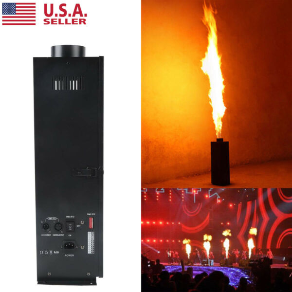 200W DMX Flame Thrower Stage Show DJ Party Fire Sprayer Effect Projector Machine