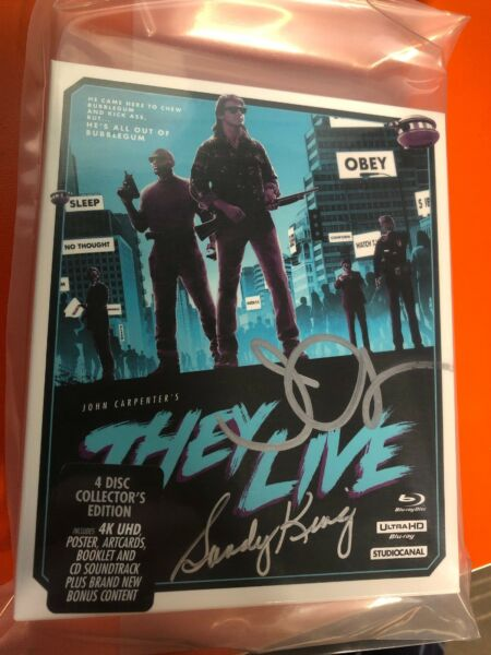 They Live 4K Ultra HD+Blu-Ray Region B AUTOGRAHED By John Carpenter + Producer