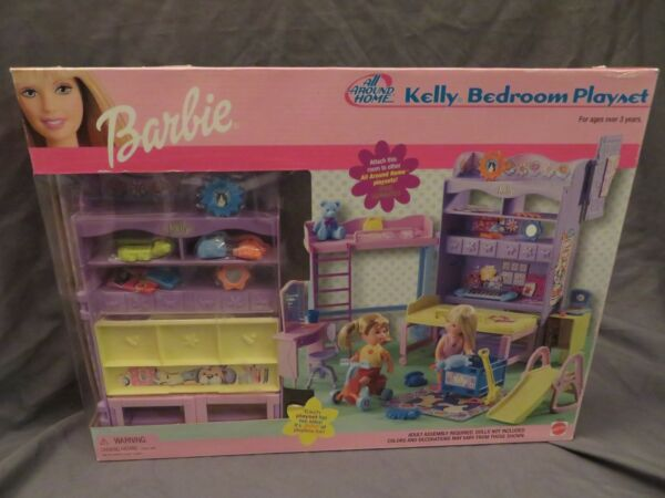 New Kelly Sister of Barbie Bedroom Playset All Around Home 88916 Mattel 2001
