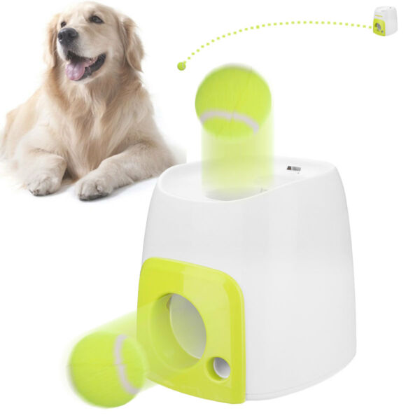 Pet Dog Launcher Tennis Ball Toys Fetch Thrower Throw Up Hyper Game Outdoor Toys