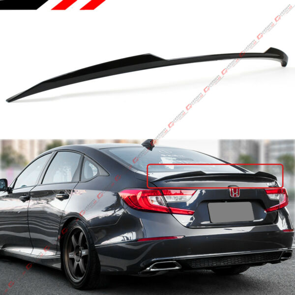 FOR 2018-2020 HONDA ACCORD SLEEK PAINTED GLOSSY BLACK PEARL TRUNK LID SPOILER
