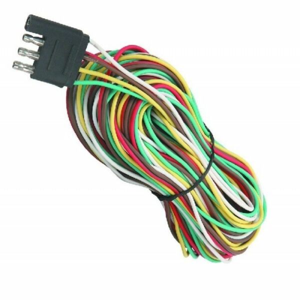 4 Way 25FT Trailer 5 Wires Connection Kit Flat Harness Wiring Light RV Boat $12.99