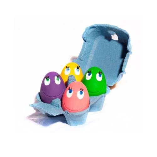 LANCO Natural rubber catch and fetch pet toy OVO the Ball Original set of 4 for