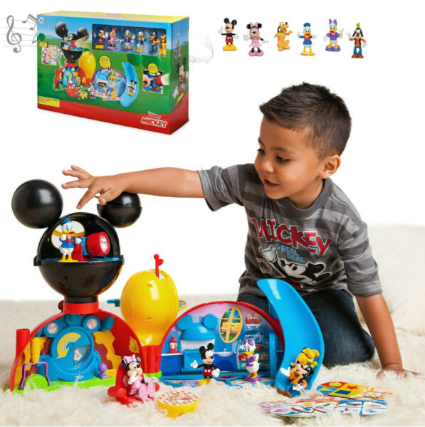 NEW Disney Junior Mickey Mouse Clubhouse Deluxe Playset Lights Sounds Figures!