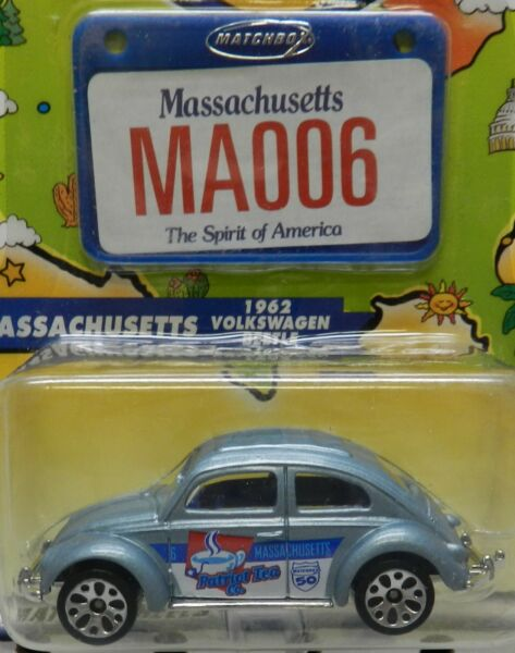 1962 VW VOLKSWAGEN BEETLE 62 BUG BLUE MASSACHUSETTS MA 006 2002 MBX MB MATCHBOX