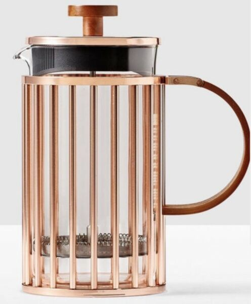 Limited Edition-Starbucks Copper Coffee French Press 34 Ounce Bodum Glass