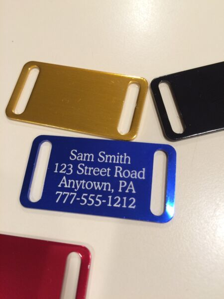 Personalized slide on collar Pet Tags color options BUY 3 get 1 free $2.95