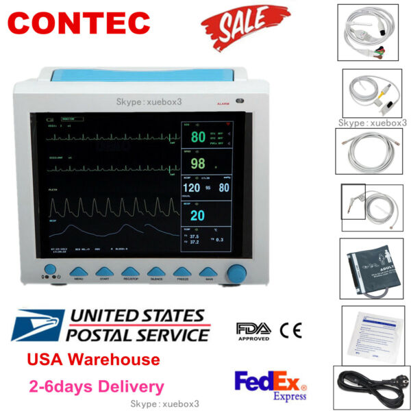 FDA CE CMS8000 Vital Signs ICU CCU Monitor 6-parameter Patient Monitor