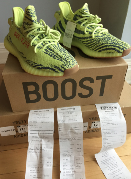 Adidas Yeezy Boost 350 V2 Frozen Yellow Semi Frozen B37572 Authentic
