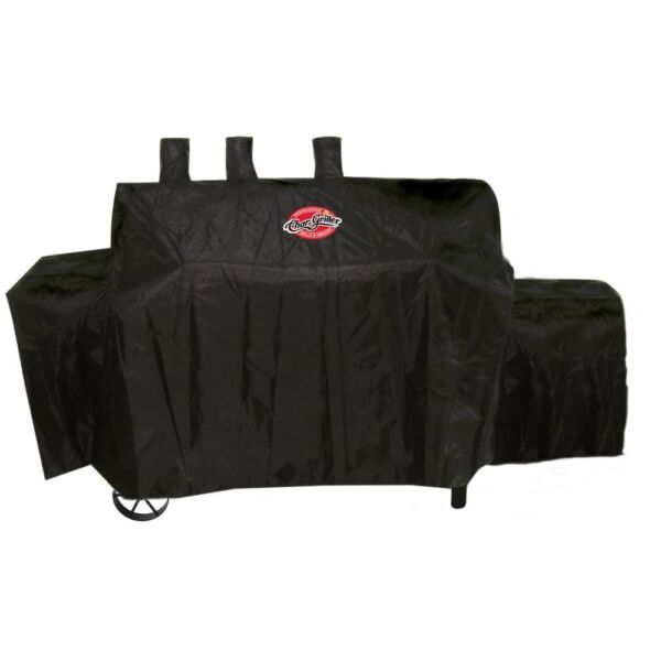 Char Griller Texas Trio Grill Cover Weather Resistant Heavy Duty Black Vinyl