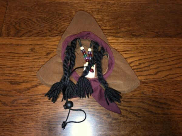 PET COSTUME DOGS HAT WITH BRAIDS BEADS $9.99