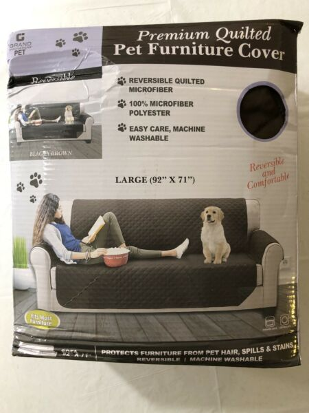 QUILTED MICROFIBER SOFA COVER THROW PET DOG FURNITURE PROTECTOR $21.99