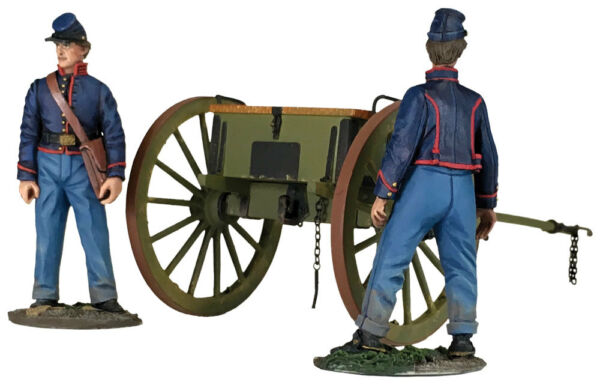 BRITAINS CIVIL WAR UNION 31291 FEDERAL LIGHT ARTILLERY LIMBER SET MIB