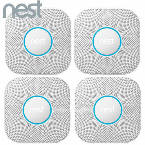 4 Pack Nest Protect Battery Operated Smoke Carbon Detector Alarm 2nd S3004PWBUS $510.76