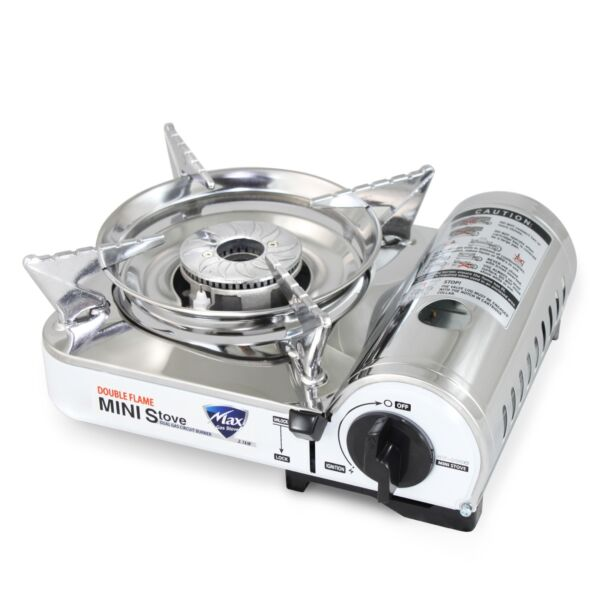 Vulcanus MS 8000 Mini Butane Gas Stove Stainless Steel top plaet. 9.6quot;x 8quot;x 3.9