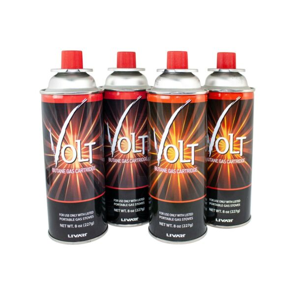 Vulcanus Gas 2 Butane Gas Cartridge Fuel Canister Camping Stoves 4 Pack