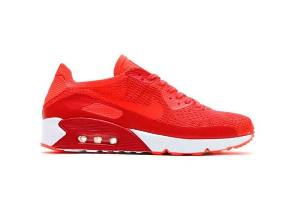 MEN'S NIKE AIR MAX 90 ULTRA 2.0 FLYKNIT SHOES crimson 875943 600 MSRP $160