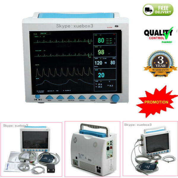 Portable Multi-parameter Vital Signs Patient Monitor ICUCCU Machine CMS8000 NEW